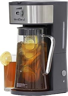 چای ساز یخ زده West Bend IT500 یا قهوه ساز یخی شامل یک لوله تزریق برای سفارشی کردن طعم و ویژگی های خاموش کردن خودکار ، 2.75 کوارت ، سیاه