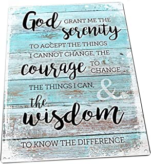 Homebody Accents ® Rustic Serenity Prayer Metal Sign, Christian, Inspirational