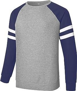 Sponsored Ad - Men's Pullover Lightweight Sweatshirts Color Block