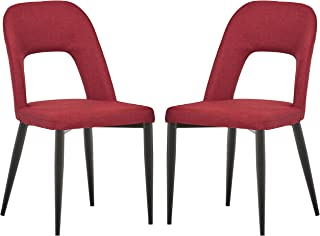 red dining chairs black legs
