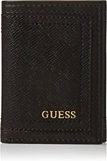 Guess Mens Global Trifold Wallet, Brown, One Size - 31GUE11040
