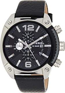 Diesel Men's Dz4341 Overflow Stainless Steel Leather Watch