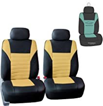 FH Group FB068102 Premium 3D Air Mesh Seat Covers Pair Set (Airbag Compatible) w. Gift, Yellow/Black Color- Fit Most Car, Truck, SUV, or Van