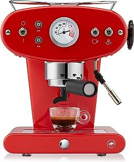 Illy caffè, Máquina de café espresso para monodosis E.S.E, Modelo X1 Trio, color rojo
