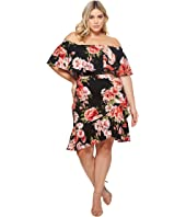 Plus Size Ivy Off the Shoulder Floral Dress