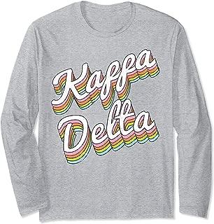 Kappa Delta Sorority College Sisters Alumni Vintage Rainbow Long Sleeve T-Shirt