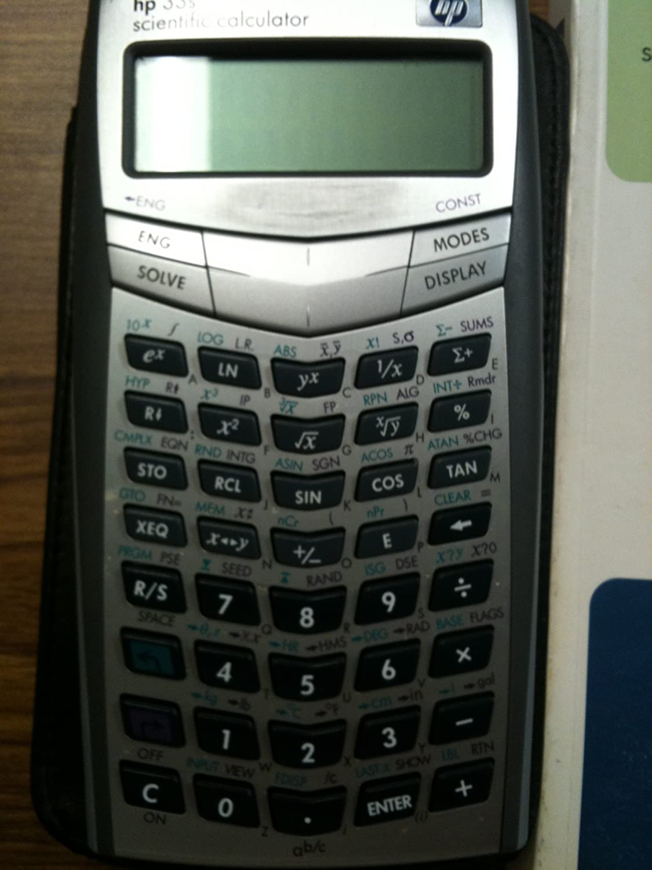low-pricing Max 64% OFF HP 33S Scientific Grey F2216A Calculator