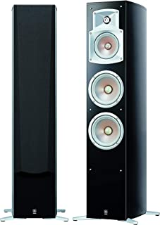 Yamaha NS-555 Pair of Floorstanding Speakers with 3-Way, 4-Speaker Bass Reflex System, Black