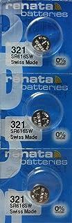 Renata Watch Battery 321 0٪ Hg Mercury Free X 3