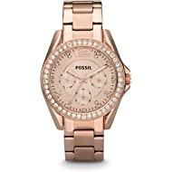 Fossil Women's Riley Stainless Steel Chronograph Glitz Quartz Watch