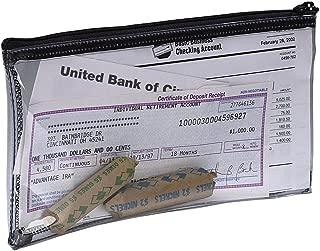 PM Company Securit Bank Deposit/Utility Zipper Coin Bag, 11 X 6 Inches, Clear, 24 Bags Per Carton (04628)