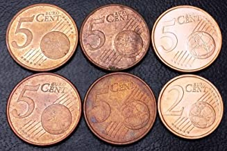 LOT OF 6 GERMANY EURO COINS DATES: 2002 2, 5 CENTS GREAT CONDITION