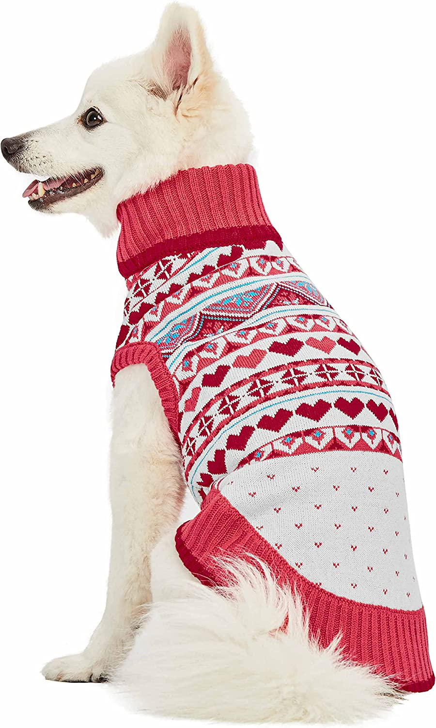 Blueberry Pet Fair Isle Style Sweater Dog trend rank Sugar Max 43% OFF Matching Coral