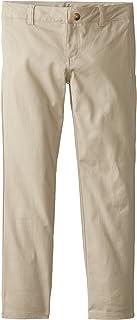 بنطلون Lee Uniforms للفتيات الكبيرات الأصلي من نسيج قطني مضلع مرن