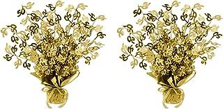 Beistle 2 Piece Metallic Plastic Gold Gleam 'N Burst 50th Wedding Anniversary Centerpiece Birthday Party Table Decoration...