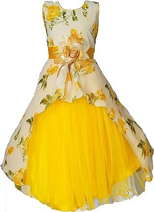 My Lil Princess Baby Girls Birthday Frock Dress_Cute Pastel_Georgette Fabric_3-9 Years