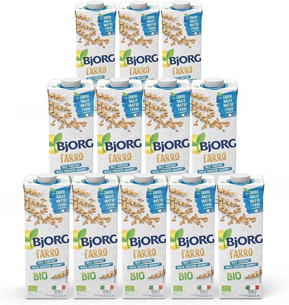 Bjorg bevanda vegetale a base di farro 12 confezione da 1 litro 100% naturale