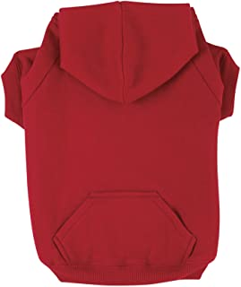 Zack and Zoey Basic Hoodie for Dogs, 16 Inch Medium, Tomato Red
