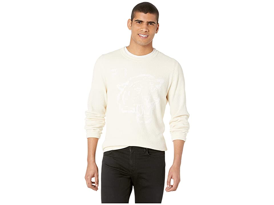 Image of Billy Reid Tiger Waffle Crew (Natural) Men's Clothing