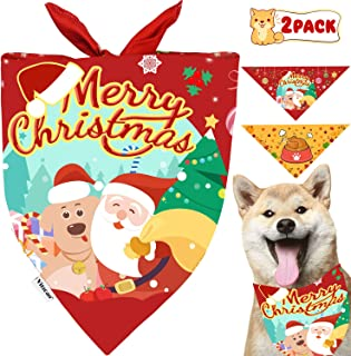 Christmas Dog Bandana Dogs Xmas Scarf and Dog Triangle Bibs Holidays Set for Large Medium Small Dogs&Cats Pet Bandana Pack as Xmas Gifts for Dogs Neckerchief Accessories