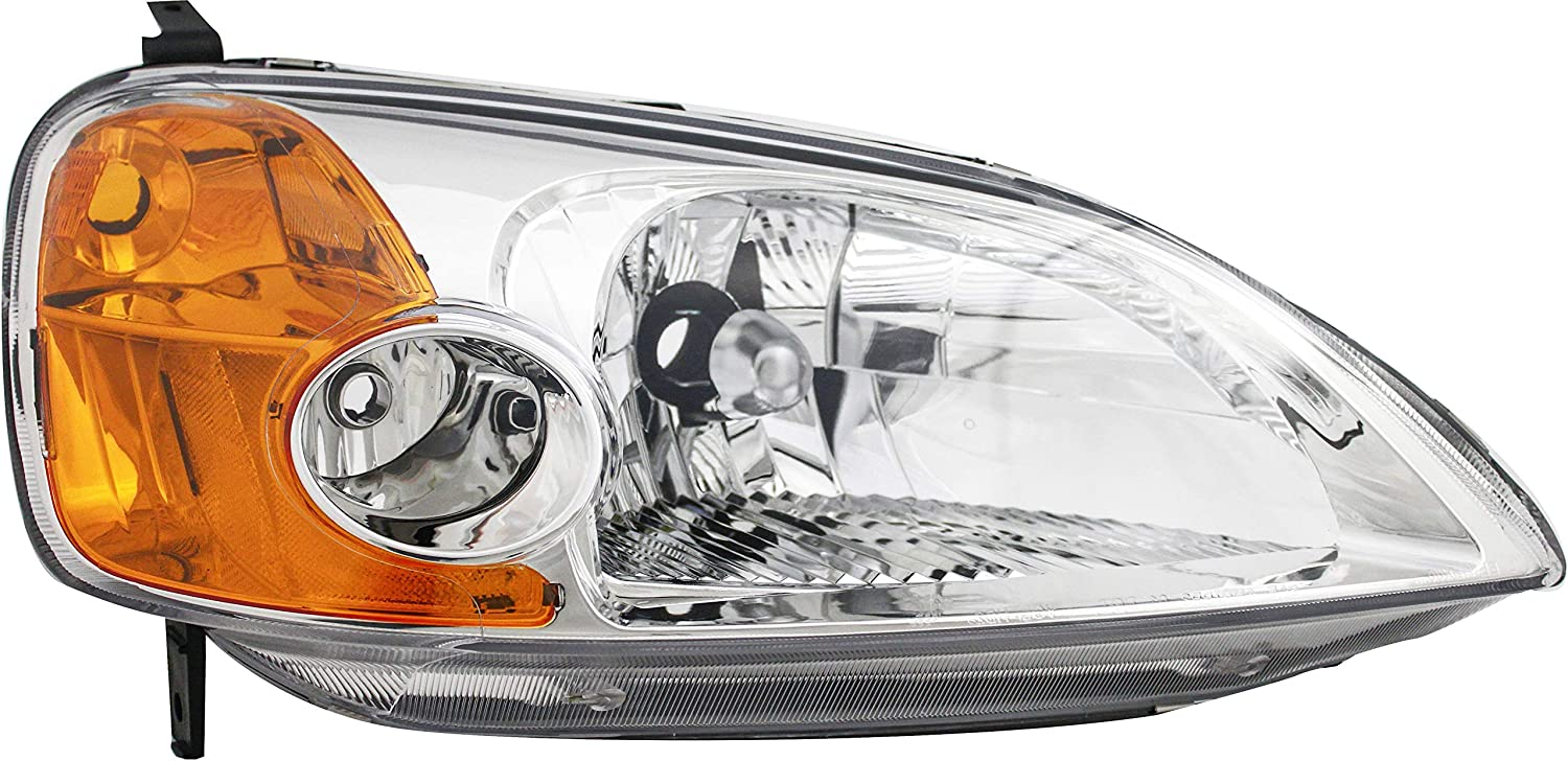 For Honda Topics on TV Civic Coupe Headlight 2001 S Passenger 2002 2003 Right A surprise price is realized