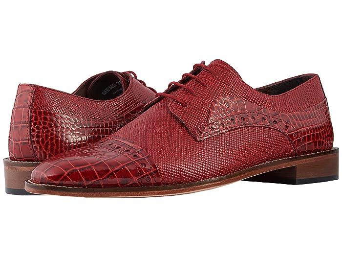 60s Mens Shoes | 70s Mens shoes – Platforms, Boots Stacy Adams Rodrigo Cap Toe Oxford Red Mens Shoes $67.50 AT vintagedancer.com