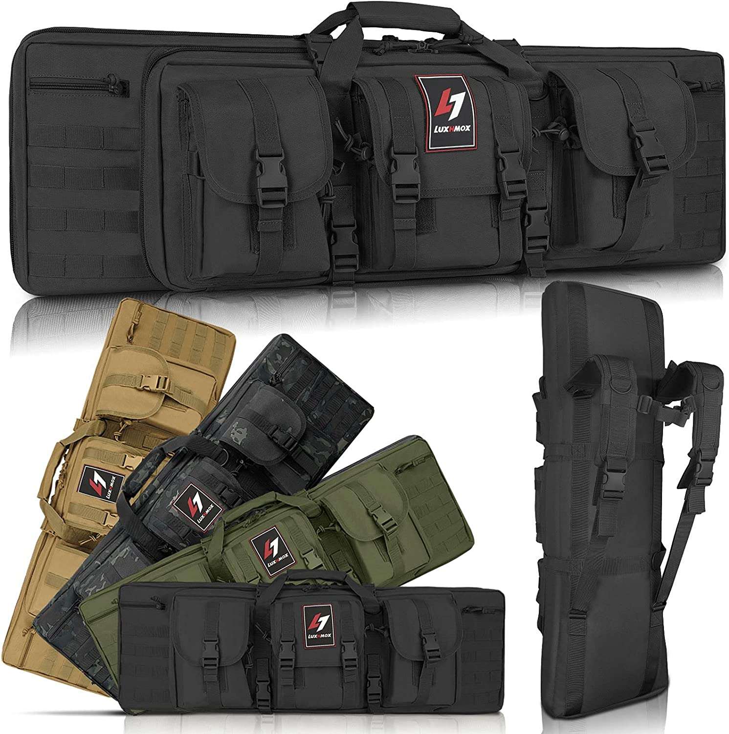 LUXHMOX Double Long Soft Rifle Fresno Mall Classic Over item handling Outdoor Case Ta American