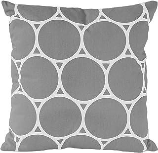 Nielsen poszewka na poduszkę Circle, 45 x 45 cm, Alloy (szara/biała), bawełna, z nadrukiem, wzorem, poduszka dekoracyjna, ...
