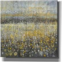 "Epic Graffiti 'Rain Abstract II' by Danhui Nai Canvas Wall Art, 26"" x 26"", Yellow"