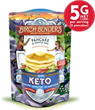 Keto Pancake & Waffle Mix by Birch Benders, Low-Carb, High Protein, Grain-free, Gluten-free, Low Glycemic, Keto-Friendly, Made with Almond, Coconut & Cassava Flour, 16 Ounce (Pack of 1)