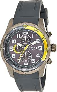 Invicta Men's 'Pro Diver' Quartz Stainless Steel Casual Watch (21947), Grey Band, Analog Display