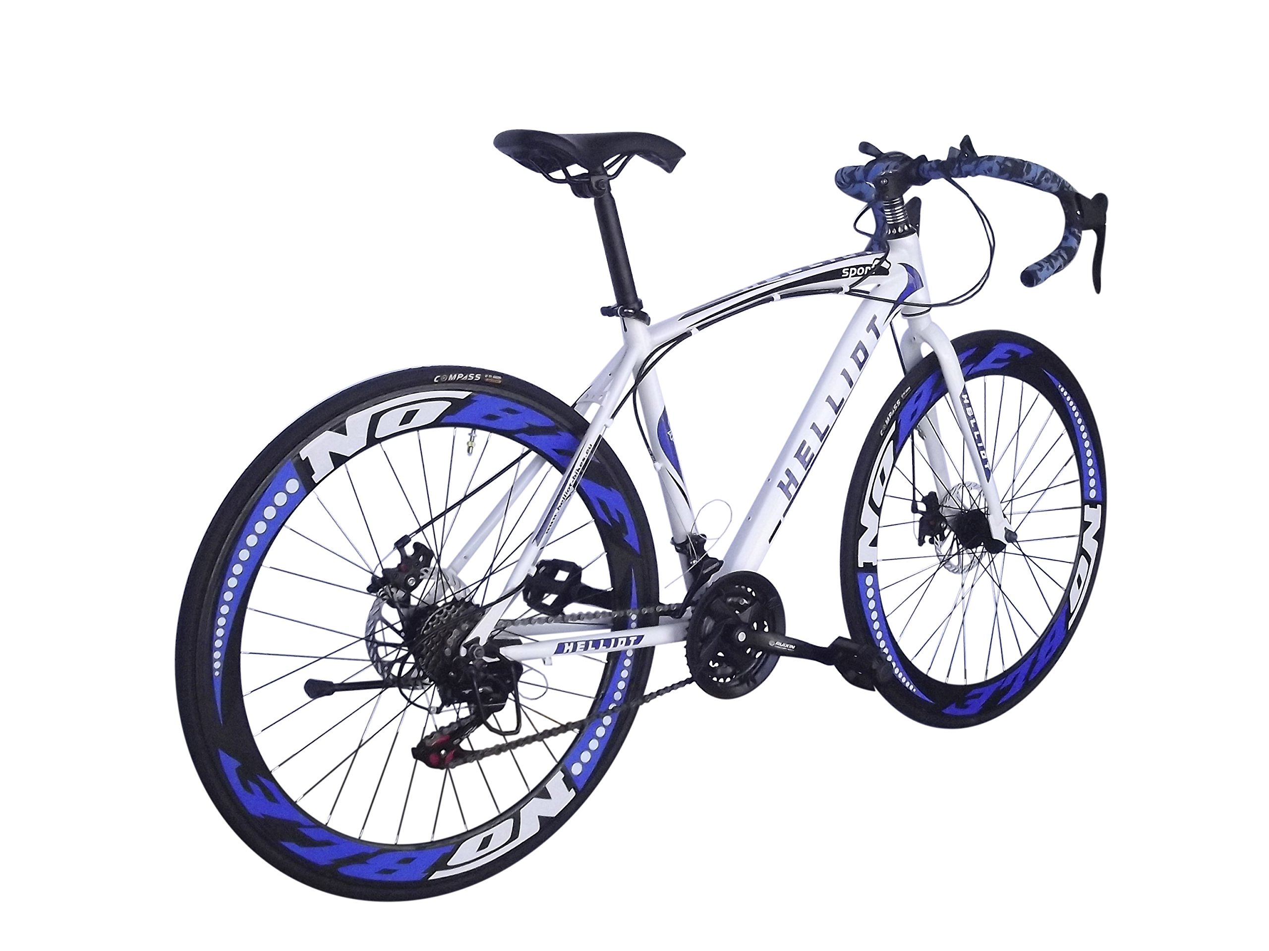 Helliot Bikes Sport_02 Bicicleta de Carretera, Unisex Adulto, Azul/Blanco, Estándar: Amazon.es: Deportes y aire libre