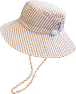 BELLEBEAUTIE Sun Hat Baby Toddler Kids 50+ UPF Sun Protective Wide Brim Bucket Hat