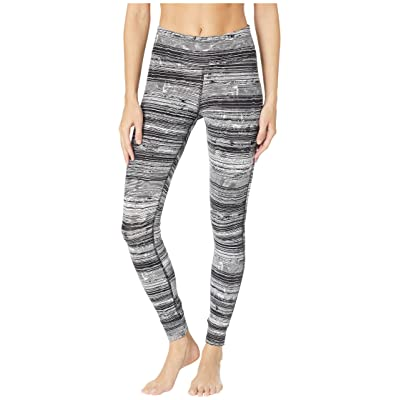 Reebok Lux Tights Stratified Stripes (Black) Women