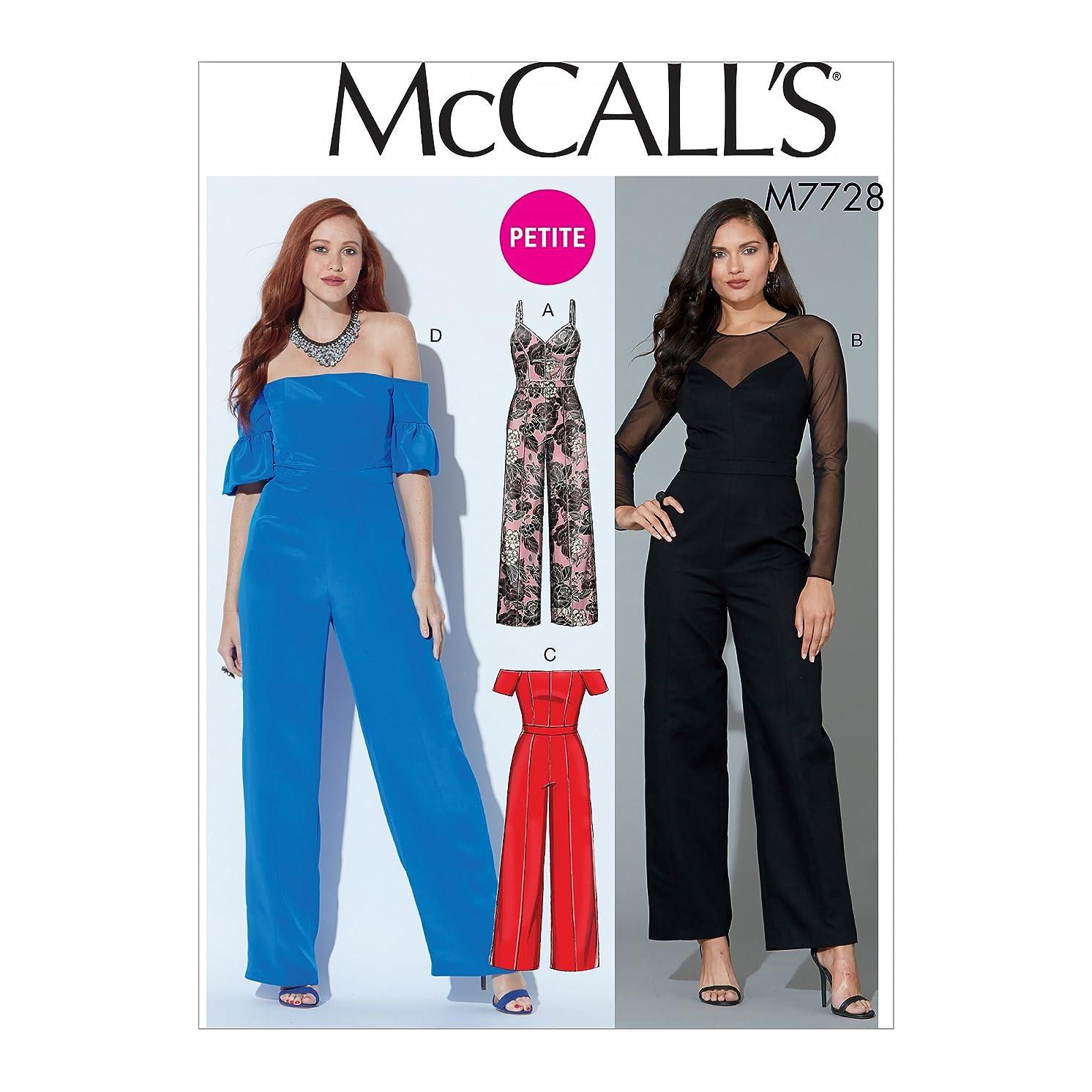 McCall's Patterns M7728E50 Misses' Petite Jumpsuits