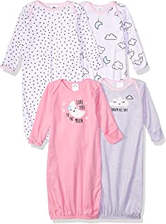 Baby 4-Pack Gown, Clouds, 0-6 Months