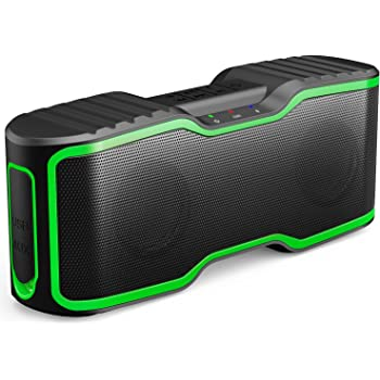 AOMAIS Sport II Portable Wireless Bluetooth Speakers 20W Bass Sound, 15H Playtime, Waterproof IPX7, Stereo Pairing, Durable Design Backyard, Outdoors, Travel, Pool, Home Party Green
