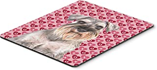Caroline's Treasures Hearts Love & Valentine's Day Schnauzer Mouse Pad/Hot Pad/Trivet (KJ1193MP)