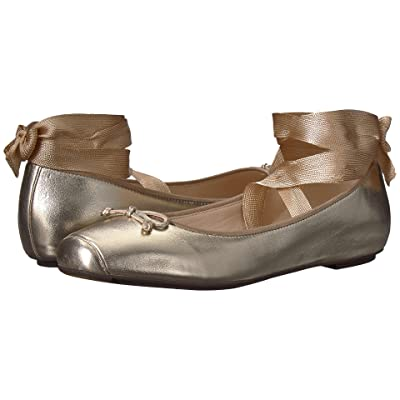 Cole Haan Downtown Ballet (Gold Metallic Leather) Women