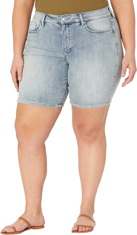 NYDJ Plus Size Ella Denim Shorts in Clean Affection