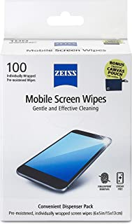 Zeiss Mobile screen wipes 100 ct Box with FREE Pouch (740.000.00213)