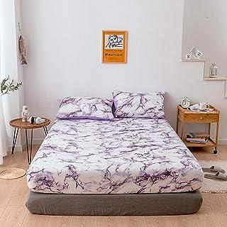 Premium Quality Plain Fitted Sheet, Soft & Cosy Fleece Bed Linen, Bedding, Kingsize Bedsheet 198cmx203cmx35cm