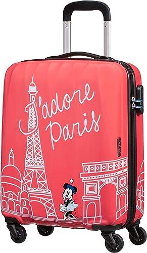 American Tourister Disney Legends Spinner S Bagage Cabine Enfant, 55 cm, 36 L, Rose (Take Me Away Minnie Paris)