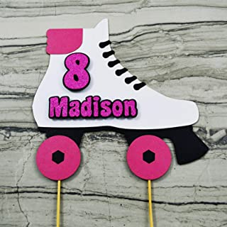 Roller Skate Cake Topper Personalized with Name and Age