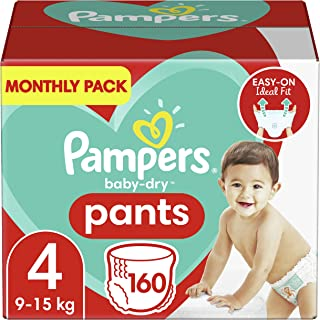 Pampers Baby-Dry Nappy Pants Size 4, 160 Count