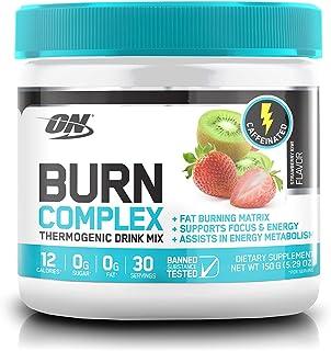 Optimum Nutrition Burn Complex Thermogenic Powder, Caffeinated, Strawberry Kiwi, 150 Grams