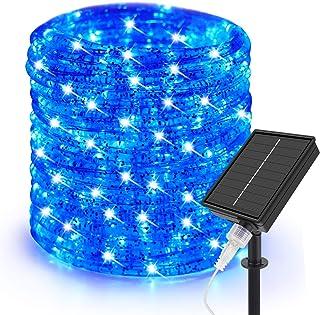 Cadena de luces solar de 10 m, de Speclux, para exteriores, resistente al agua, 200 LED, alambre de cobre, decorativa, par...