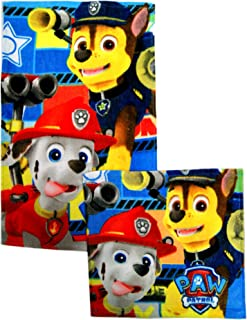 Paw,Patrol Set Towels Hands & Face Towels,2 Towels,Official Licensed