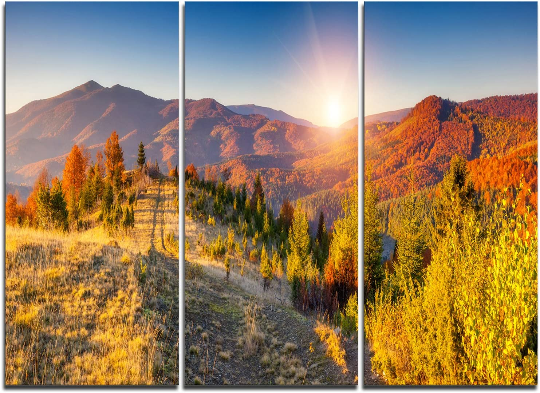 Designart 高い素材 Majestic 数量限定 Fall Mountains Art Wall Print Range-Landscape