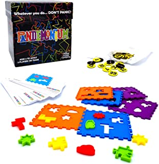 Pandemonium - Race Your Opponent To Recreate The Images. Work Fast & Don't Panic! Multicolored 2 Player Or Team Family Game That's Fun for Everyone. Uses Hand/Eye Coordination & Spatial Awareness